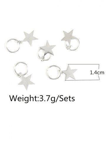 Outfits 5 PCS Star Hair Accessories - SILVER  Mobile