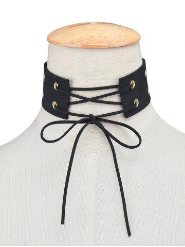 Fashion Velvet Bowknot Faux Leather Choker