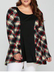 Plus Size Plaid Long Sleeve Dress