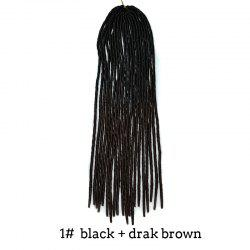 Two-Tone Ombre Stylish Long Heat Resistant Synthetic Dreadlock Hair Extension For Women - JET BLACK