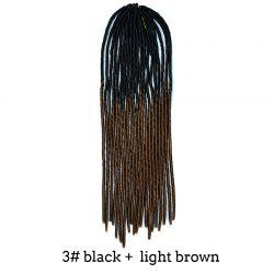 Two-Tone Ombre Stylish Long Heat Resistant Synthetic Dreadlock Hair Extension For Women -