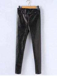Plus Size PU Leather Thicken Leggings