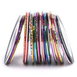 30 Colours Roll Nail Art Stickers Nail Art Strip Tapes - COLORMIX