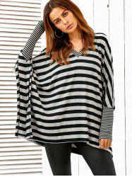 Dolman Sleeve Striped Tee