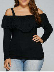 Plus Size Dew Shoulder Overlay Blouse -