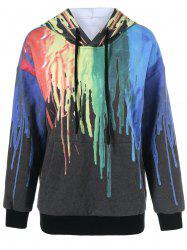 Drop Shoulder Paint Drip Hoodie