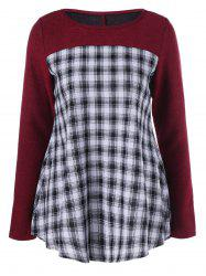 Plaid Trim Knitwear
