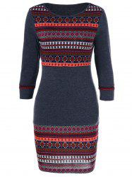 Tribal Trim Slimming Dress -