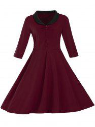 Vintage Button Pin Up Dress -