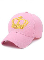 Crown Embroidery Baseball Cap - SHALLOW PINK