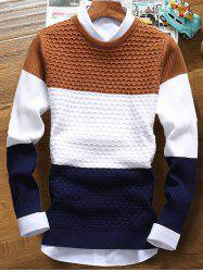 Color Striped Ribbed Texture Sweater