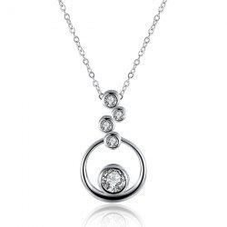 Rhinestone Bubble Necklace