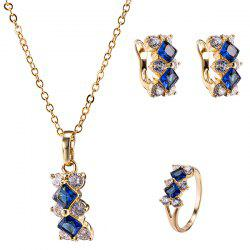 Polished Zircon Rhombus Necklace Set -