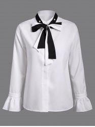 Bell Sleeves Pussy Bow Chiffon Blouse
