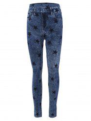 Star Print Skinny High Waisted Jeggings