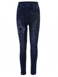Print High Waisted Skinny Jeggings -