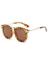 Arrow Mark Leopard Faux Amber Polarized Sunglasses -