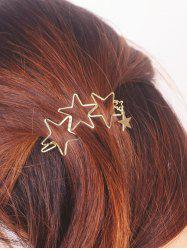 Star Hollowed Hairpin - GOLDEN