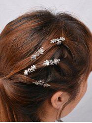 5PCS Floral Hair Accessory Set - SILVER