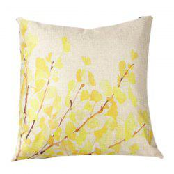 Fall Leaves Printed Sofa Cushion Linen Pillow Case - BEIGE