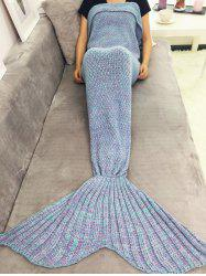 Warmth Yarn Knitted Throw Bed Mermaid Blanket -
