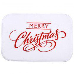 Coral Fleece Antiskid Soft Absorbent Christmas Doormat Carpet
