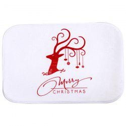 Christmas Deer Antiskid Water Absorb Bathroom Doormat Carpet