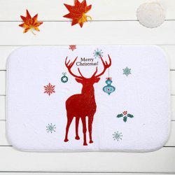 Christmas Deer Antislip Water Absorb Bathroom Doormat Carpeting