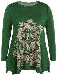 Longline Plus Size Graphic Sweater