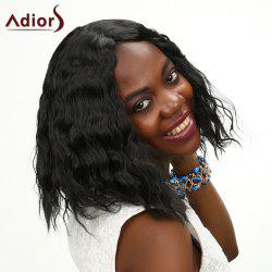 Adiors Medium Middle Parting Wavy Shaggy Synthetic Wig