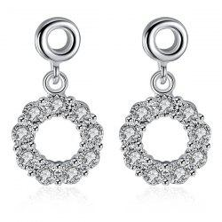 Embellished Circle Earrings