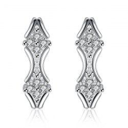 Embellished Rhombus Earrings -