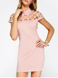 Hollow Out Bandage Bodycon Mini Club Dress