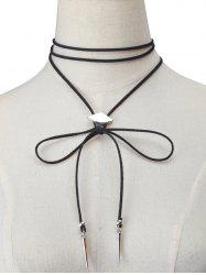 Artificial Leather Velvet Geometric Choker Necklace -