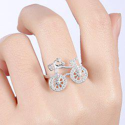 Cute Rhinestone Bike Finger Ring
