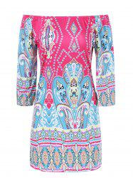 Colorful Patterned Bohemian Dress