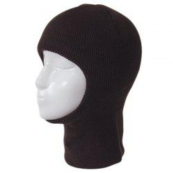 Outdoor Knit Face Mask Neck Warmer Ski Cap - Café