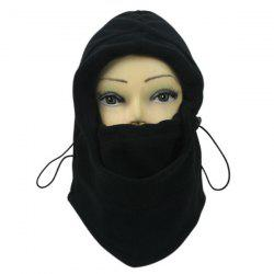 Vent d'hiver Stopper Face Mask Neck Warmer Cycling Cap - Noir