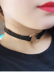 Copper Coil Velvet Strip Choker Necklace -