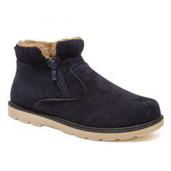 Suede Double Zips Ankle Boots -