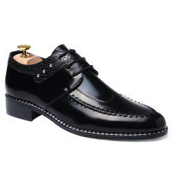 PU Leather Embossed Panel Formal Shoes -