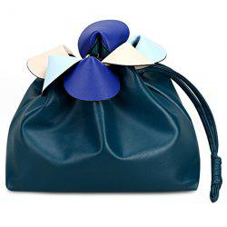 Colour Spliced Petals Crossbody Drawstring Bag