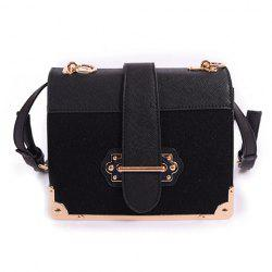 PU Leather Metal Corner Crossbody Bag