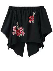 Off Shoulder Embroidered Smock Top