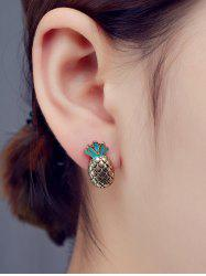 Pineapple Enamel Stud Earrings