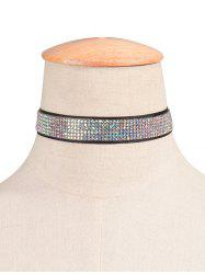 Rhinestoned Adorn Choker Necklace
