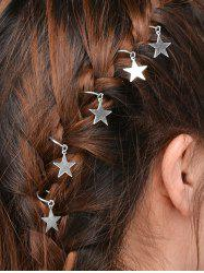 5 PCS Star Hair Accessories - SILVER