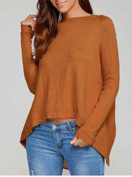 Back Slit High Low Knitwear