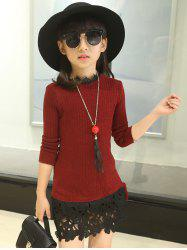 Pullover Knit Sweater Dress -