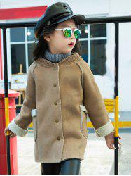 Shearling TrimStand Collar Faux Suede Coat -